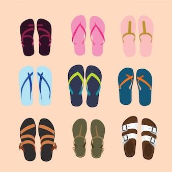 Colección de sandalias
