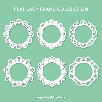 Colección de seis marcos de encaje
