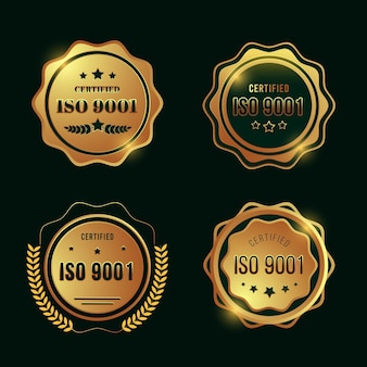 Colección de sellos de certificación iso