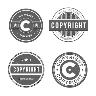 Colección de sellos de copyright antiguos