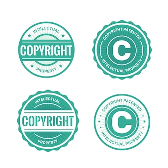 Colección de sellos de derechos de autor con licencia