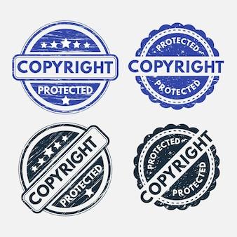 Colección de sellos de derechos de autor