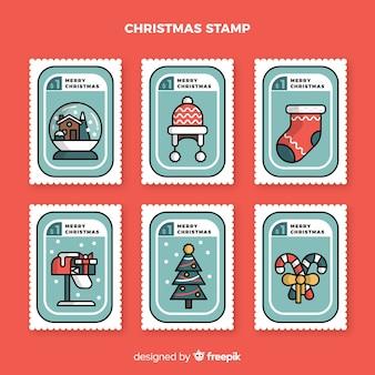 Colección sellos navidad lineales