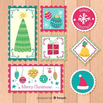 Colección de sellos de navidad