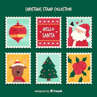 Colección sellos navidad