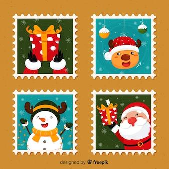 Colección de sellos navideños