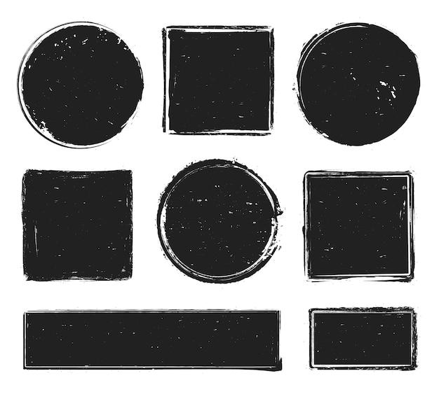 Colección de sellos de textura grunge