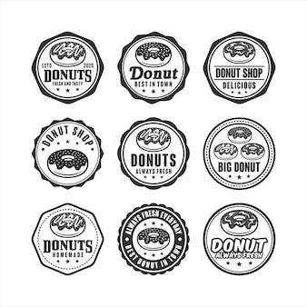 Colección de sellos de tienda de donas