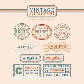 Colección de sellos vintage