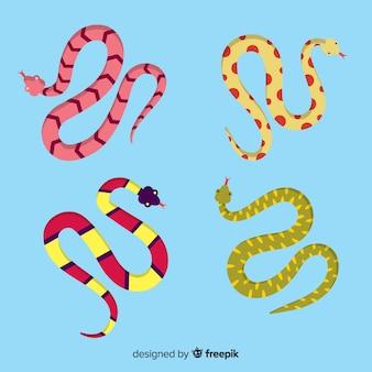 Colección serpientes dibujadas a mano