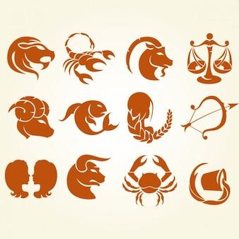 Colección de signos del zodiaco