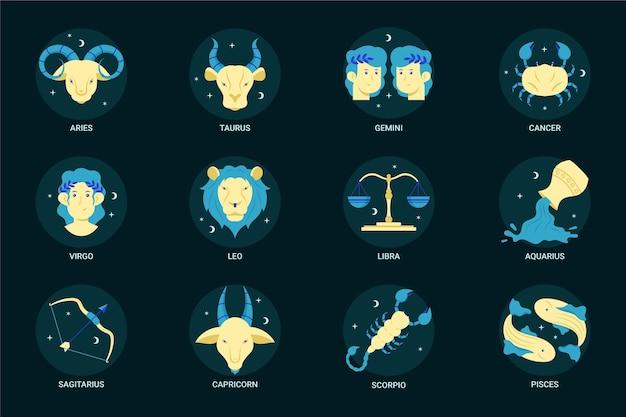 Colección de signos del zodíaco