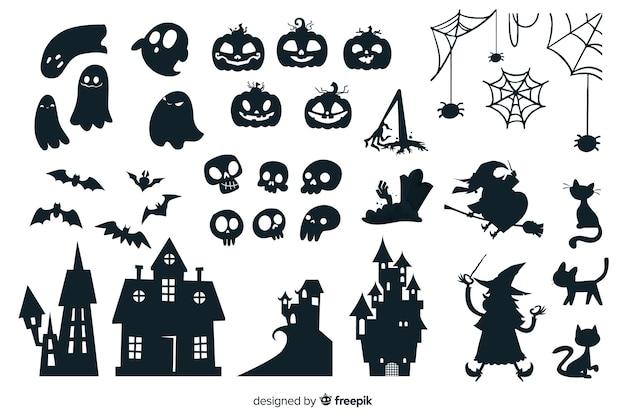 Colección de silueta de halloween