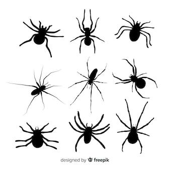 Colección siluetas arañas