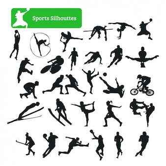 Colección de siluetas de deporte