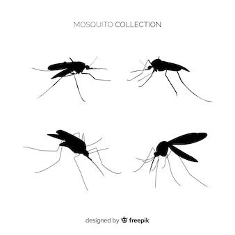 Colección siluetas mosquitos