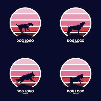 Colección de siluetas de perros dálmatas