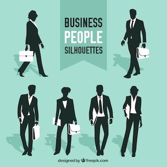 Colección de siluetas de personas de negocios
