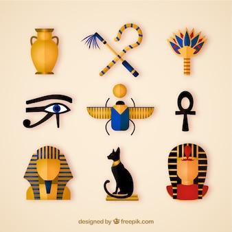 Colección de símbolos de egipto