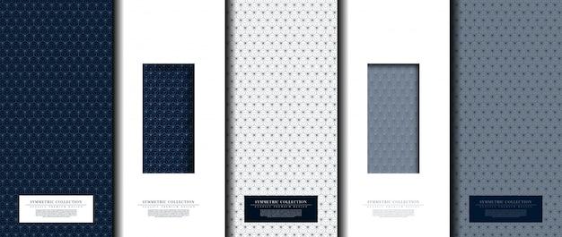 Colección simétrica patrón abstracto conjunto