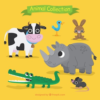 Colección de simpáticos animales