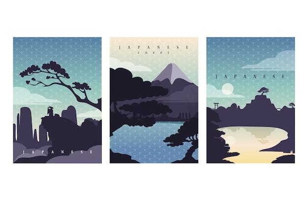 Colección simple de portadas japonesas