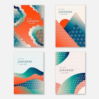 Colección simplista de portadas japonesas