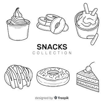 Colección de snacks ricos
