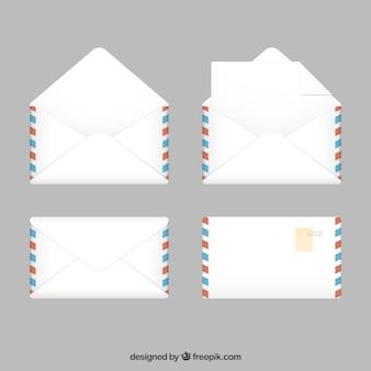 Colección de sobres del correo aéreo