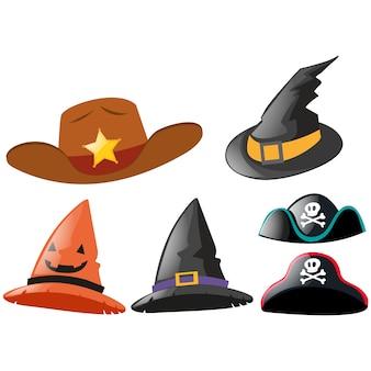 Colección de sombreros a color