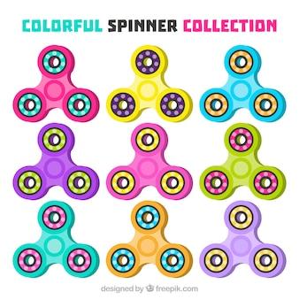 Colección de spinners coloridos