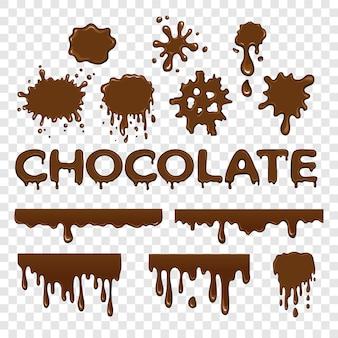 Colección de splat de chocolate