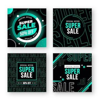 Colección de super rebajas de publicaciones de instagram
