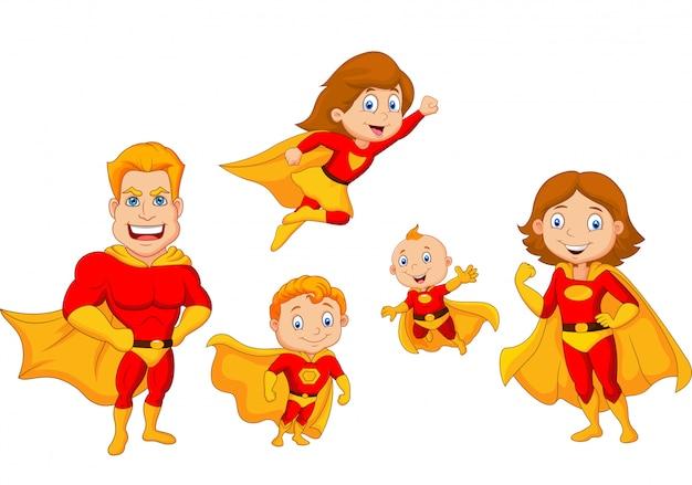 Colección de superheroes de dibujos animados