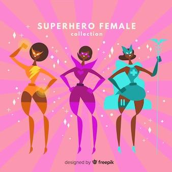 Colección de superheroes femeninos