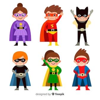 Colección de superheroes de niños