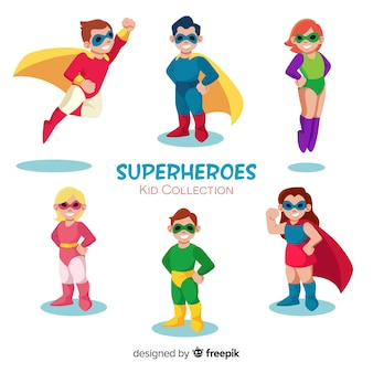 Colección de superheroes niños