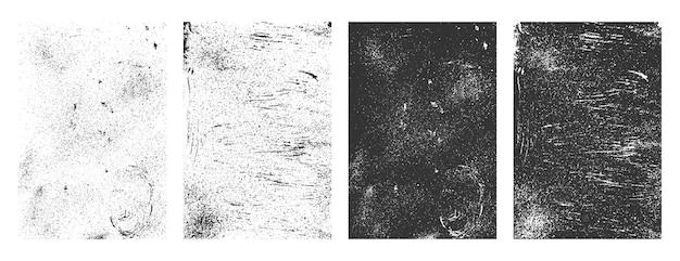 Colección de superposición de textura apenada grunge