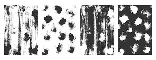 Colección de superposición de texturas grunge apenado