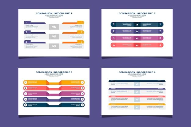 Colección de tabla de comparación moderna