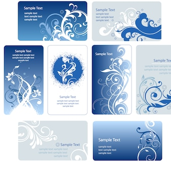 Colección de tarjeta de visita azules