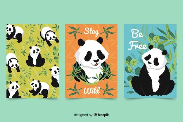 Colección de tarjetas de animales salvajes.