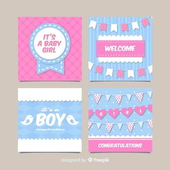 Colección de tarjetas de baby shower
