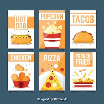 Colección tarjetas comida rápida