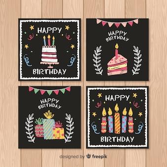Colección tarjetas cumpleaños pizarra