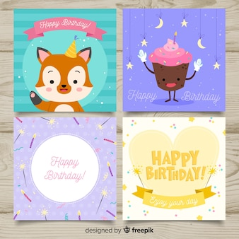 Colección de tarjetas de cumpleaños