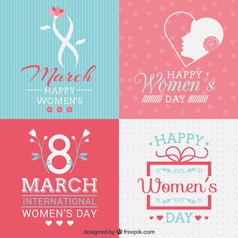 Colección de tarjetas del día de la mujer