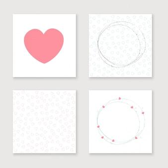 Colección de tarjetas para el día de san valentín, cumpleaños, guardar la invitación de la fecha.