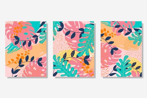 Colección de tarjetas de estilo memphis.