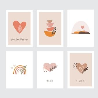 Colección de tarjetas de felicitación del día de san valentín